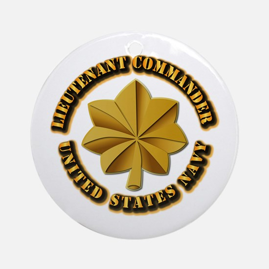 Navy - LCDR Ornament (Round)
