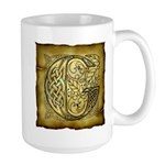Celtic Letter G Large Mug