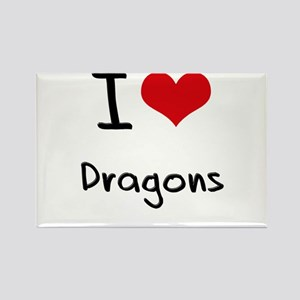 I Love Dragons Rectangle Magnet