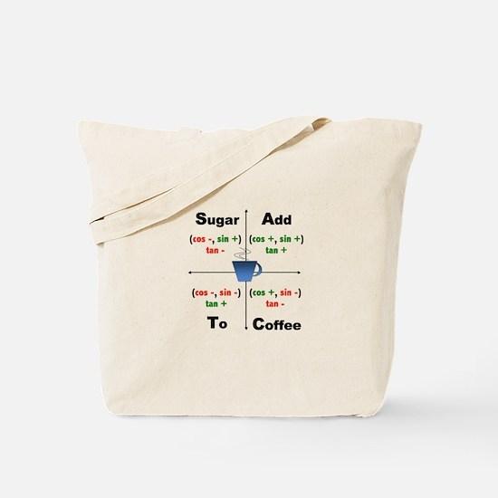 Trig Signs Add Sugar To Coffee Tote Bag