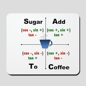 Trig Signs Add Sugar To Coffee Mousepad