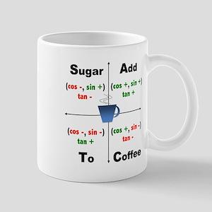 Trig Signs Add Sugar To Coffee Mug