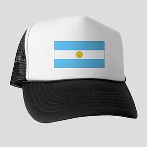 Argentina Blank Flag Trucker Hat