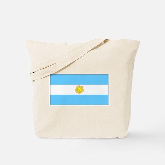 Argentina Blank Flag Tote Bag