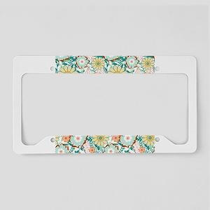 Floral Feud License Plate Holder