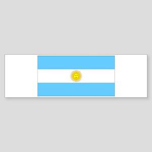 Argentina Blank Flag Bumper Sticker