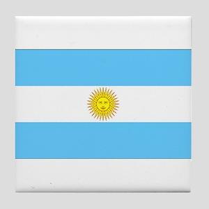 Argentina Blank Flag Tile Coaster