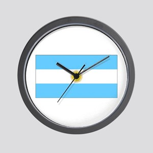 Argentina Blank Flag Wall Clock
