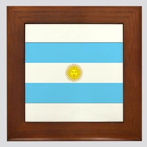 Argentina Blank Flag Framed Tile