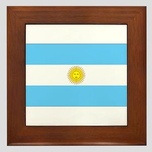 Argentina Blank Flag Framed Tile