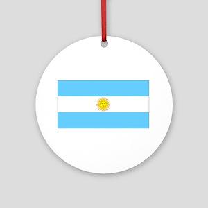 Argentina Flag Christmas Ornament