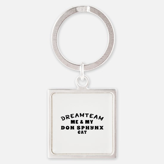 Don Sphynx Cat Designs Square Keychain