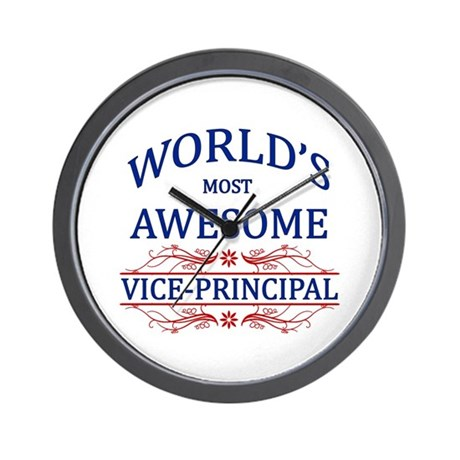 World's Most Awesome Vice-Principal Wall Clock