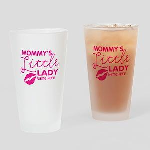 Mommy's Little Lady Lips Drinking Glass