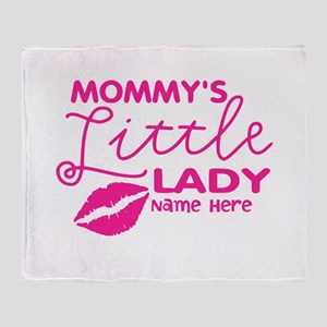 Mommys Little Lady Lips Throw Blanket