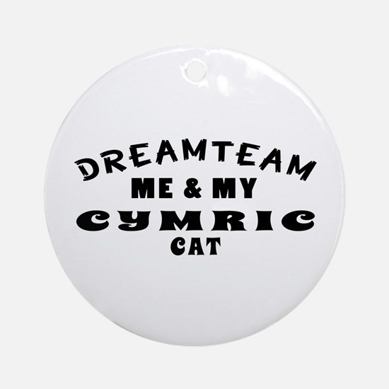 Cymric Cat Designs Ornament (Round)
