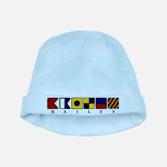 Nautical baby hat