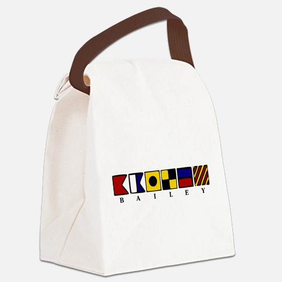 Nautical Canvas Lunch Bag
