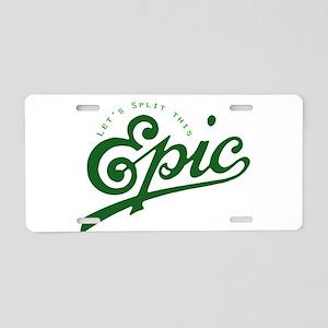 Story Split Aluminum License Plate