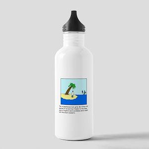 Deserted Algebra Island (C) Stainless Water Bottle
