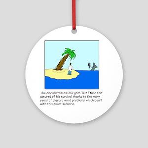 Deserted Algebra Island (C) Ornament (Round)