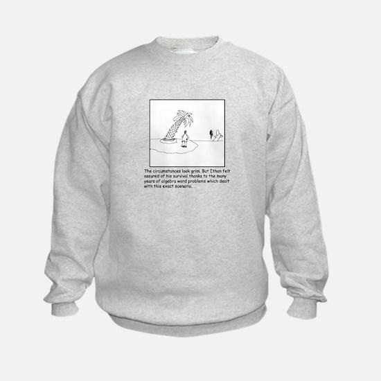 Deserted Algebra Island (b/w) Sweatshirt