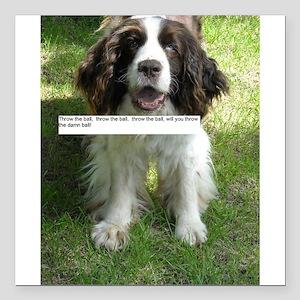 Throw the Ball English Springer Spaniel Dog Square
