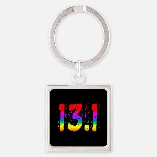 Rainbow Confetti 13.1 Keychains