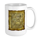 Celtic Letter E Large Mug