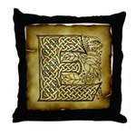 Celtic Letter E Throw Pillow