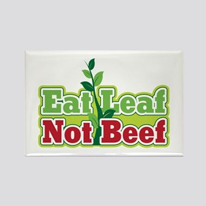 Eat Leaf Not Beef Rectangle Magnet