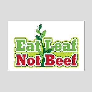 Eat Leaf Not Beef Mini Poster Print