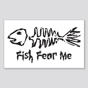 Fish Fear Me Rectangle Sticker