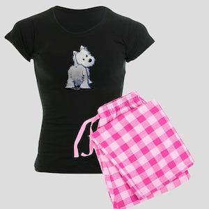 KiniArt Fluffybutt Westie Women's Dark Pajamas