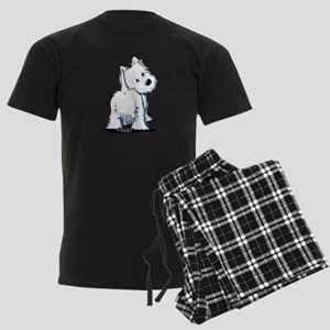 KiniArt Fluffybutt Westie Men's Dark Pajamas