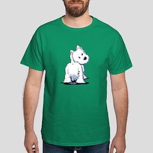 KiniArt Fluffybutt Westie Dark T-Shirt