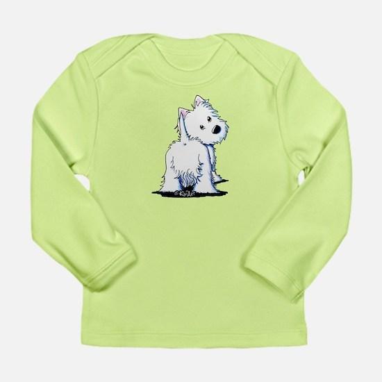 KiniArt Fluffybutt West Long Sleeve Infant T-Shirt