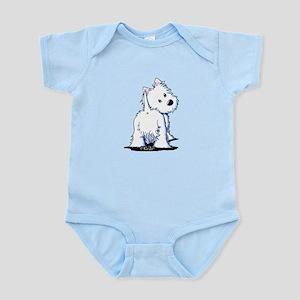 KiniArt Fluffybutt Westie Infant Bodysuit