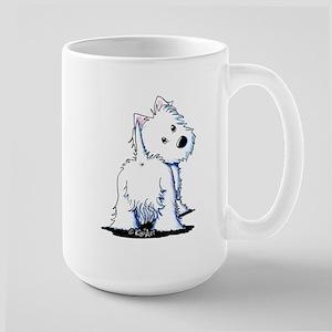 KiniArt Fluffybutt Westie Large Mug