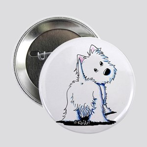 "KiniArt Fluffybutt Westie 2.25"" Button"