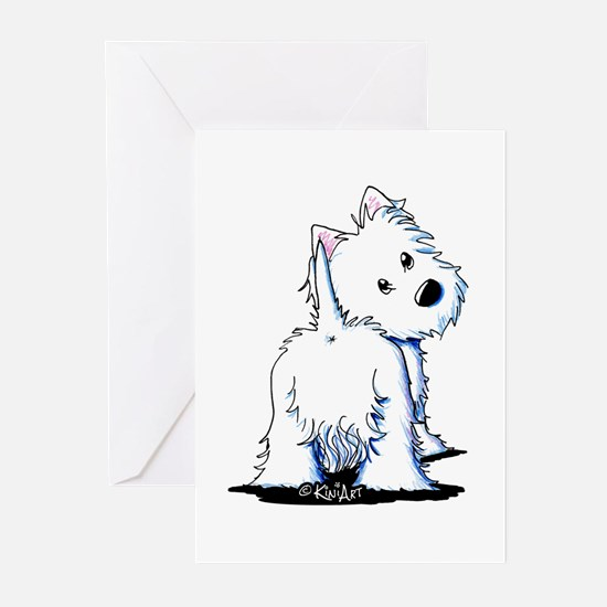 KiniArt Fluffybutt Westi Greeting Cards (Pk of 20)