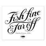 'Fish fine' Small Poster