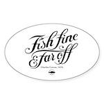 'Fish Fine' Sticker (Oval 10 pk)