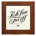 'Fish fine' Framed Tile