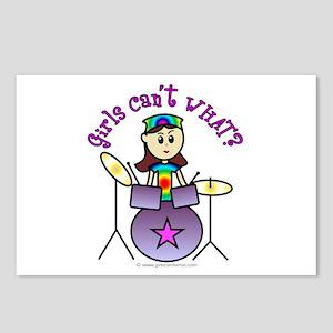 Light Girl Drummer Postcards (Package of 8)