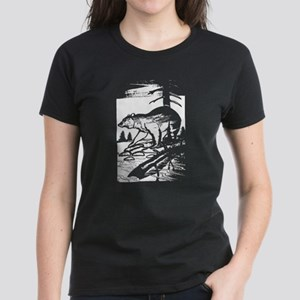 WILDNERNESS BEAR SCENE Women's Dark T-Shirt