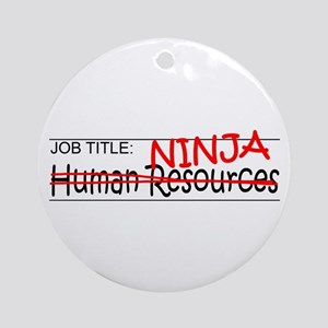 Job Ninja HR Ornament (Round)