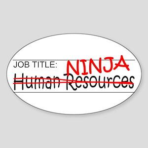 Job Ninja HR Sticker (Oval)