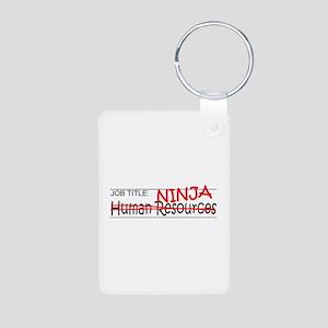 Job Ninja HR Aluminum Photo Keychain