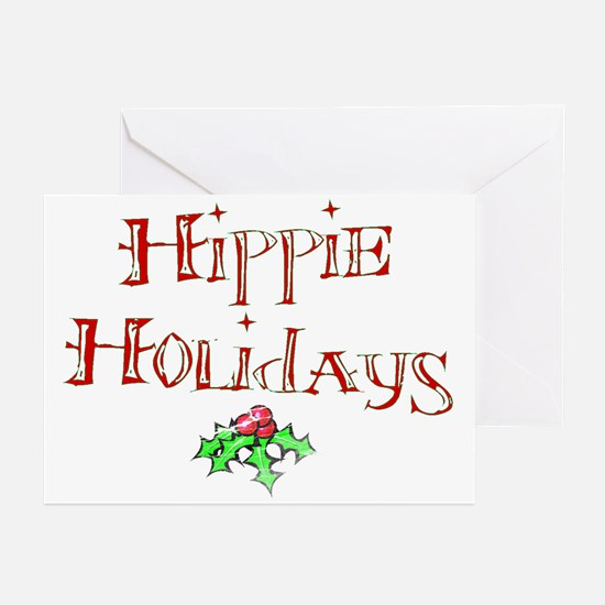 Hippie Holidays Christmas Greeting Cards (Package